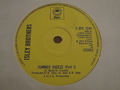 """Isley Brothers - Summer Breeze Part 1 & 2 - 70´s Soul Classic 7"""" In Vg + Con"""
