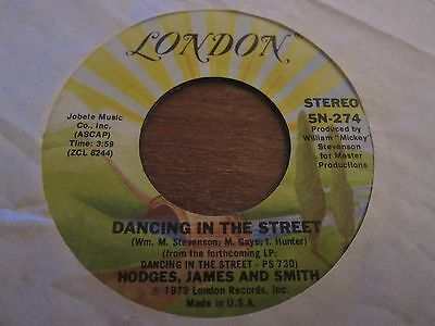 """Hodges James And Smith - Dancing In The Street - 1979 Us Pressing - 7"""" In Ex Con"""