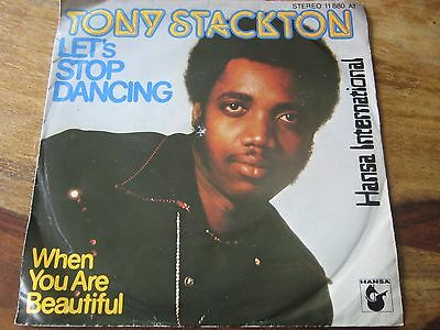 """Tony Stackton - Let's Stop Dancing - Late 70's Obscure Uk Soul Singer - 7"""" Exc"""