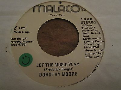 Dorothy Moore - Let The Music Play - 1978 Us Pressing - 72 In Excellent Con