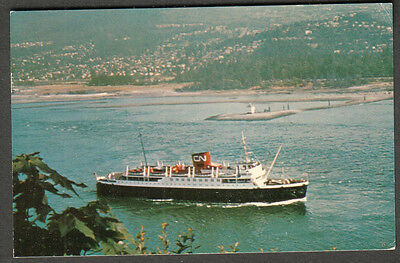 1968 post card CN Canadian National cruise ship SS Prince George Juneau AK to AZ