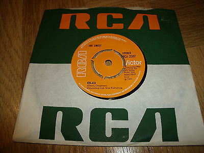 """Sweet/Glam Rock Co - Co/Done Me Wrong All Right 7"""" Single."""