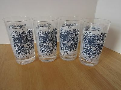 Royal China Currier & Ives 10 oz  Glasses Tumblers
