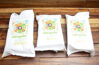 3 Babyganics Face- Hand & Baby Wipes- Fragrance Free- 40 Count