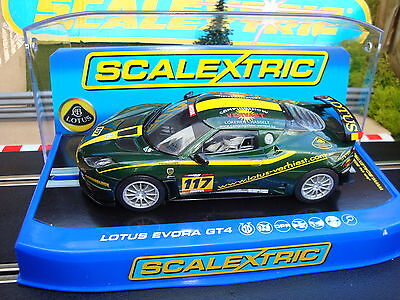 Brand New Boxed Scalextric Lotus Evora Gt4  Dpr & Working Lights C3506