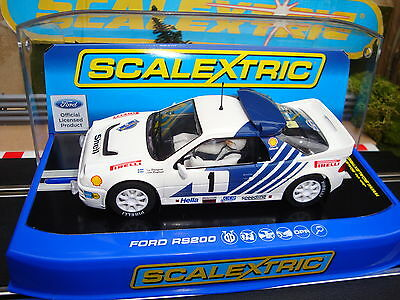 C3493 NEW BOXED SCALEXTRIC FORD RS200 No1 CAR, LIGHTS & DPR- STIG BLOMQVIST.