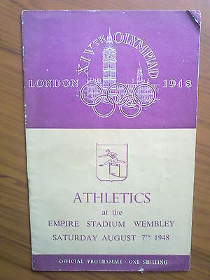 Programme Olympic Games LONDON 1948 - ATHLETICS 07.08.1948