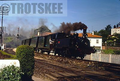 35mm Slide CP Portugal Railways Steam Loco E86 1969 Portuguese Original