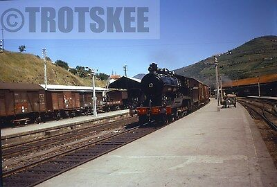 35mm Slide CP Portugal Railways Steam Loco 282 1969 Portuguese Original