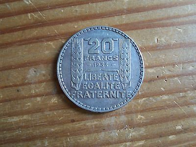 French 20 Francs 1933 Silver 20 g