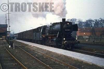 35mm Slide DB West Germany Railways Steam Loco 52 188 Aschendorf 1974 Original