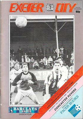 EXETER CITY  v.  DONCASTER ROVERS.   Division Four.   1988/89