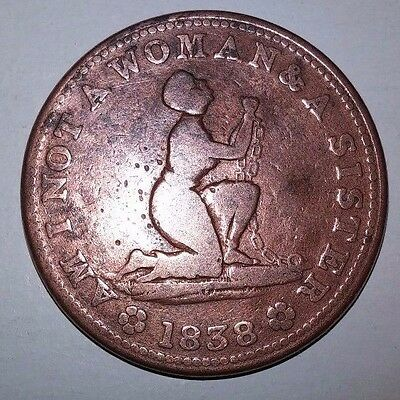 Usa 1838 - Am I Not A Woman And A Sister - Anti-Slavery Token