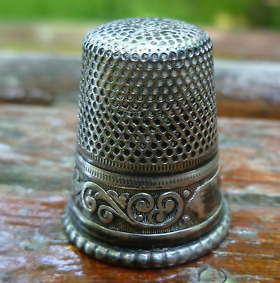 Vintage Sterling Thimble Size 9 Germany