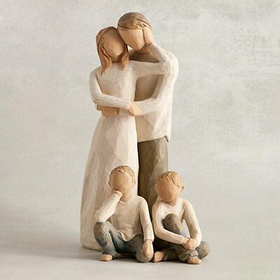 Willow Tree FAMILY OF FOUR - Parents and Sons - Brand NEW with FREE Delivery!