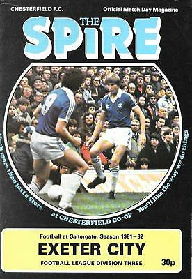 CHESTERFIELD  v.  EXETER CITY.    Division Three.   1981/82