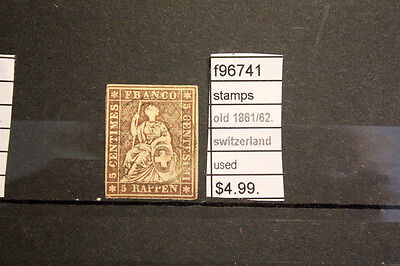 Stamps Old Switzerland 1861/62 Used (F96741)