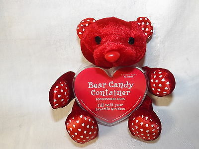 Red Bear Heart Shaped Candy Container by Amscan New