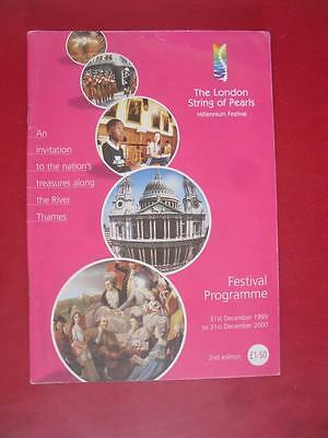 2000 The London String of Pearls. Millenium Festival Programme