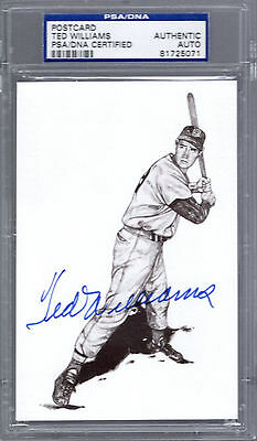 Ted Williams SIGNED AUTOGRAPHED 1989 Thumper Postcard PSA/DNA Authentic Slabbed