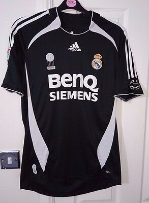 "Adidas REAL MADRID Football Shirt 2006 Soccer Jersey Away Top M ""FIFA BEST CLUB"""