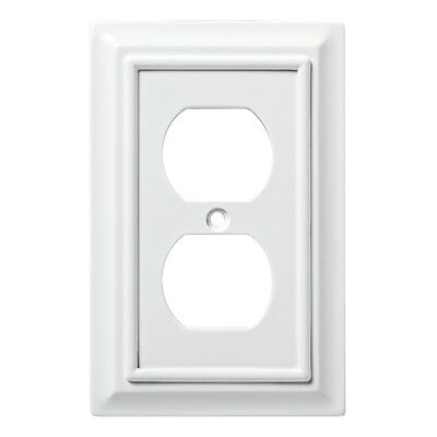 W10766-PW Pure White Architect Single Duplex Outlet Wall Cover Plate