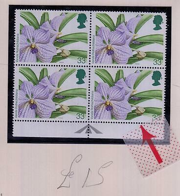 GB SG 1662a MNH BLOCK OF 4 COPYRIGHT LOGO OMMITED CAT VALUE £15