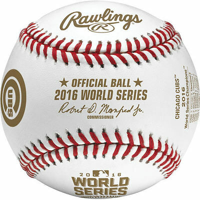 Rawlings 2016 World Series Champs Chicago Cubs Baseball in Display Cube