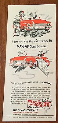 VTG 1940s MARFAK Lubrication PRINT AD jackhammer car with wings