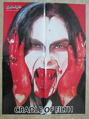 Poster Cradle Of Filth  Iron Maiden  Virtual Xi  Pin Up   A2