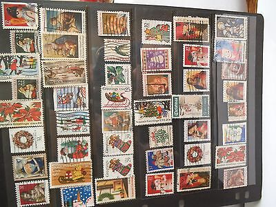 USA a nice selection of Christmas stamps apprx. 130