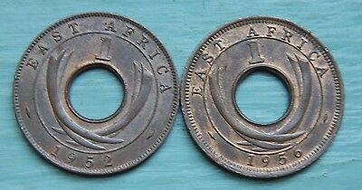 British East Africa Cent 1952 and 1956