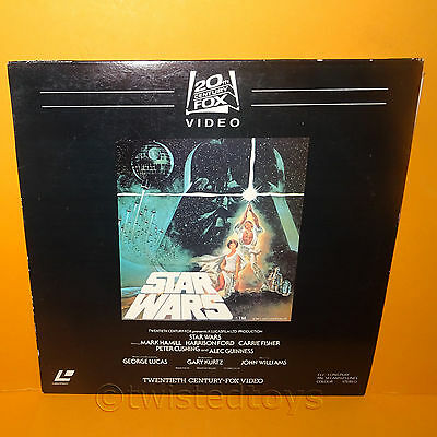 1982 Twentieth Century Fox Video / Lucasfilm Star Wars Laser Disc Laserdisc Pal