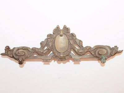 Great Old Fronton, Bronze Furniture Pediment Ribbon Garland