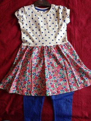 Mothercare Girls Summer Dress & Leggings Outfit 2-3 Yrs BNWT