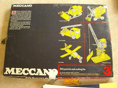 Vintage Meccano Outfit 3 1970s for spares