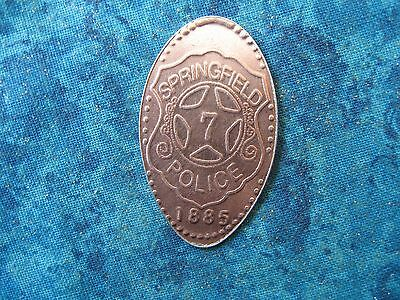 SPRINGFIELD POLICE 1885 Elongated Penny Pressed Smashed 5K