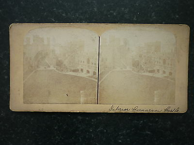 Stereoview Nice Early Image Interior Carnarvon Castle Wales