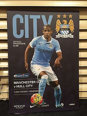 Manchester City V Hull City - Capital One Cup programme 2015/2016