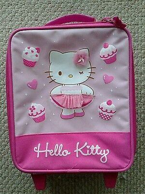 Hello Kitty Childrens Rolling Luggage Suitcase