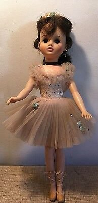 "VINTAGE 1960's MADAME ALEXANDER ""Ballerina"" 17"" DOLL w/ Dress & Shoes"