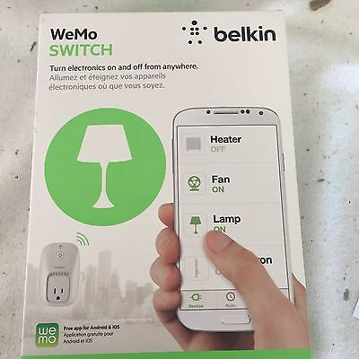 New!Belkin WeMo Light Switch Control Android/iPhone.. Home Automation Wi-Fi