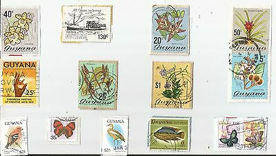 A  Fresh New Selection Of Kiloware Stamps From Guyana