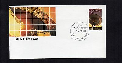 Australia 1986 Halley's Comet First Day Cover Fdc Unaddressed