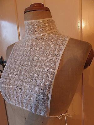 Antique c. Edwardian - WW1 modesty High neck, useful below antique gowns