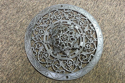 Antique Round Cast Iron Ornate Ceiling Grate Floor Heat Register Vent Star Shape