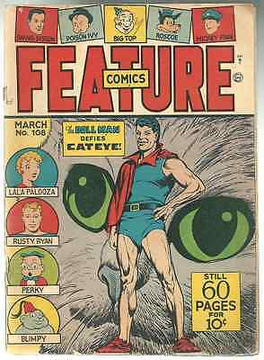 FEATURE  COMIC BOOK # 108 MARCH 1947  Golden-Age