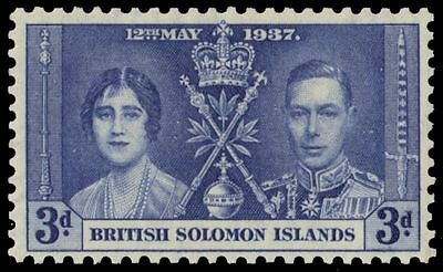 SOLOMON ISLANDS 66 (SG59) - King George VI Coronation (pa34035)