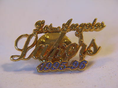 Nice Gold-Tone Nba Basketball Los Angeles Lakers 1995-96 Lapel Pin
