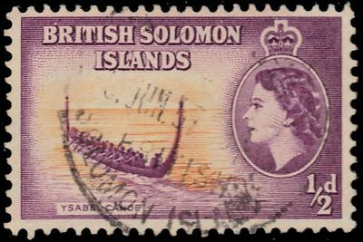 "SOLOMON ISLANDS 89 (SG82) - Elizabeth II ""Ysabel Canoe"" (pa37694)"